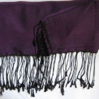 Dp Purple & Blk Watersilk Pashmina  KK16